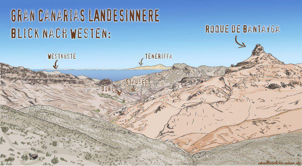 Gran-Canarias-Landesinnere-Uebersicht