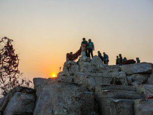 Qian-Fo-Shan-Touristen